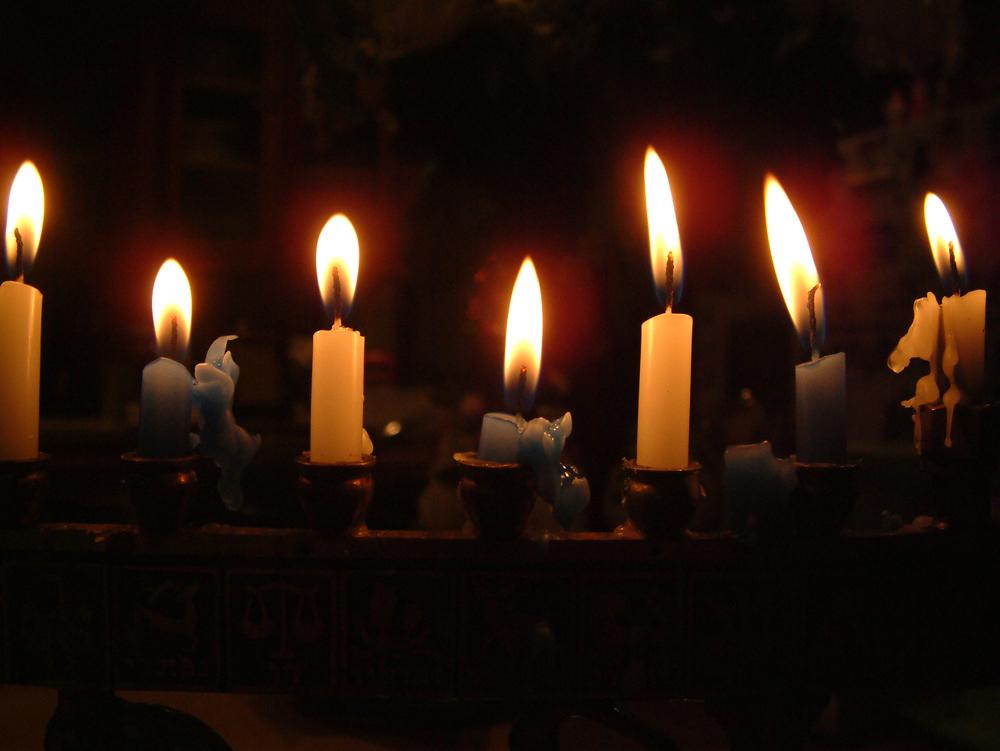свечи хануки фото