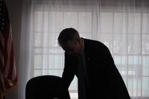 Joe Walsh in his office
