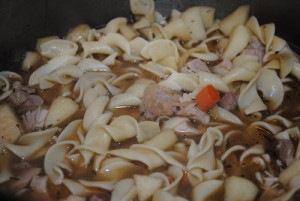 Leftovers Turkey-Apple-Noodle Soup