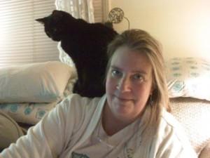Bitsy on my shoulder