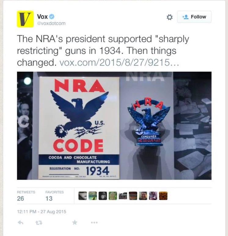 Vox NRA Error Tweet